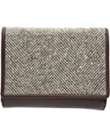 Mala Leather ABERTWEED Collection Leather & Tweed Tri-Section Purse 3212_40