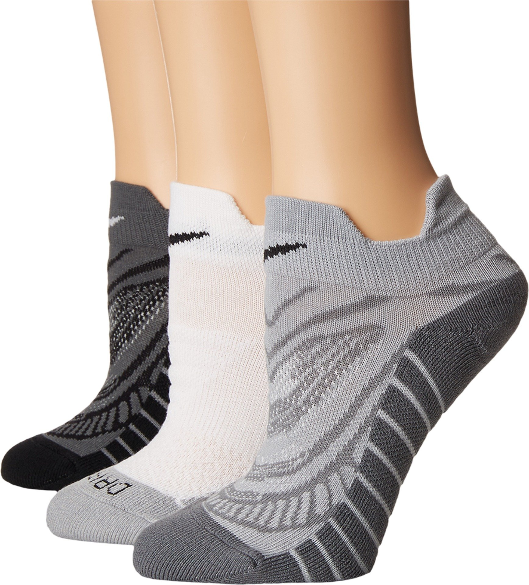 Nike Women`s Dry Cushion Graphic Low Training Socks (3 Pair) (Multicolor 4, Medium)
