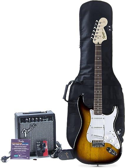Squier Affinity Strat FM10G SB Set · Set guitarra eléctrica: Amazon.es: Instrumentos musicales