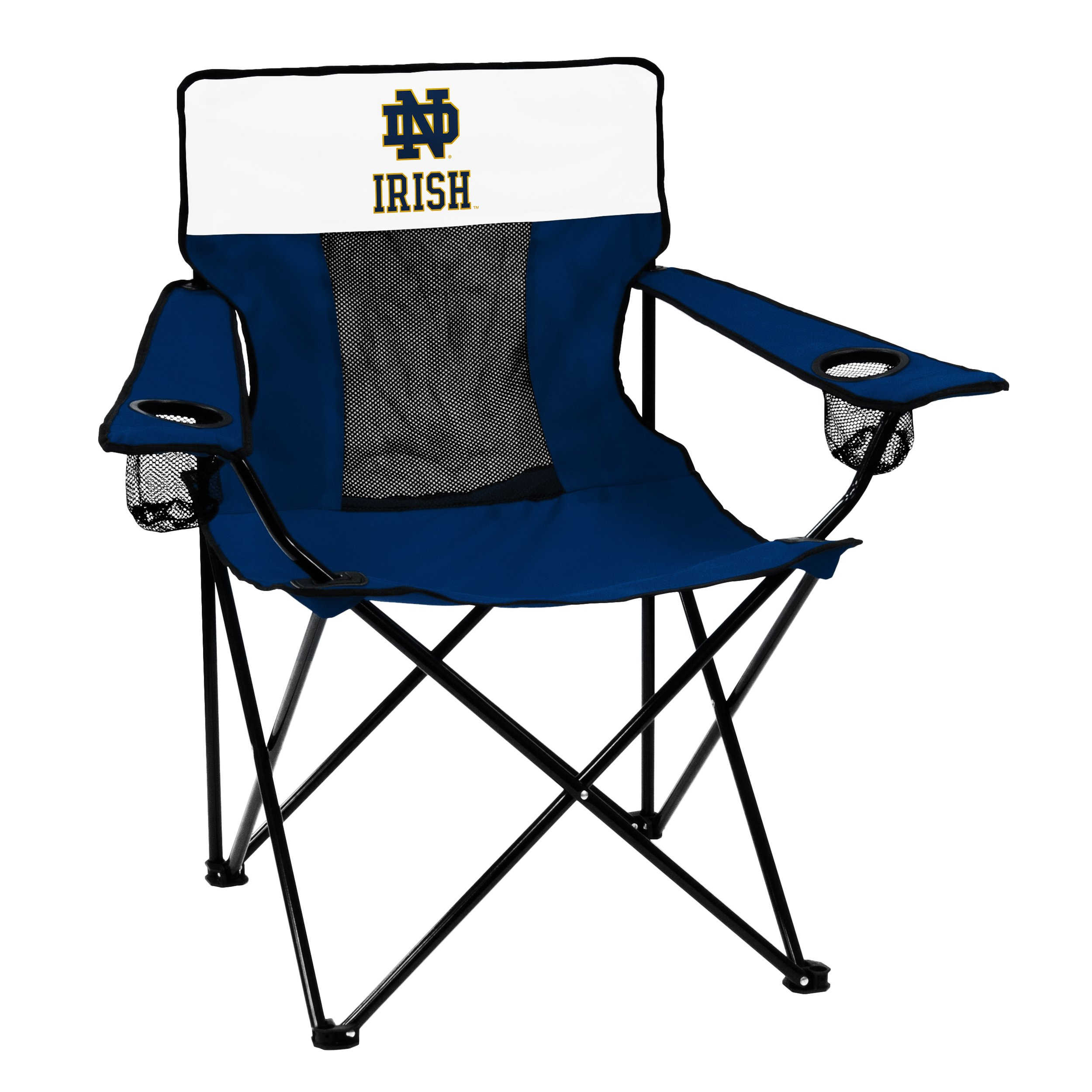 Logo Brands NCAA Notre Dame Fighting Irish Elite Chair, Navy/White