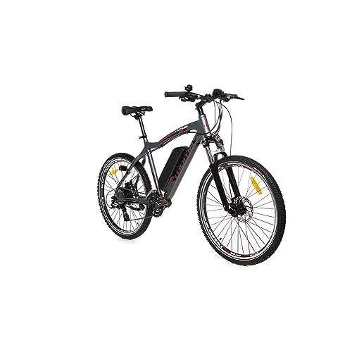 "Moma Bikes Vélo VTT Electrique VAE , E-MTB 26"", Aluminium, SHIMANO 24V, Freins a Disque, Suspension Avant, Bat. Ion Lithium 36V 16Ah"