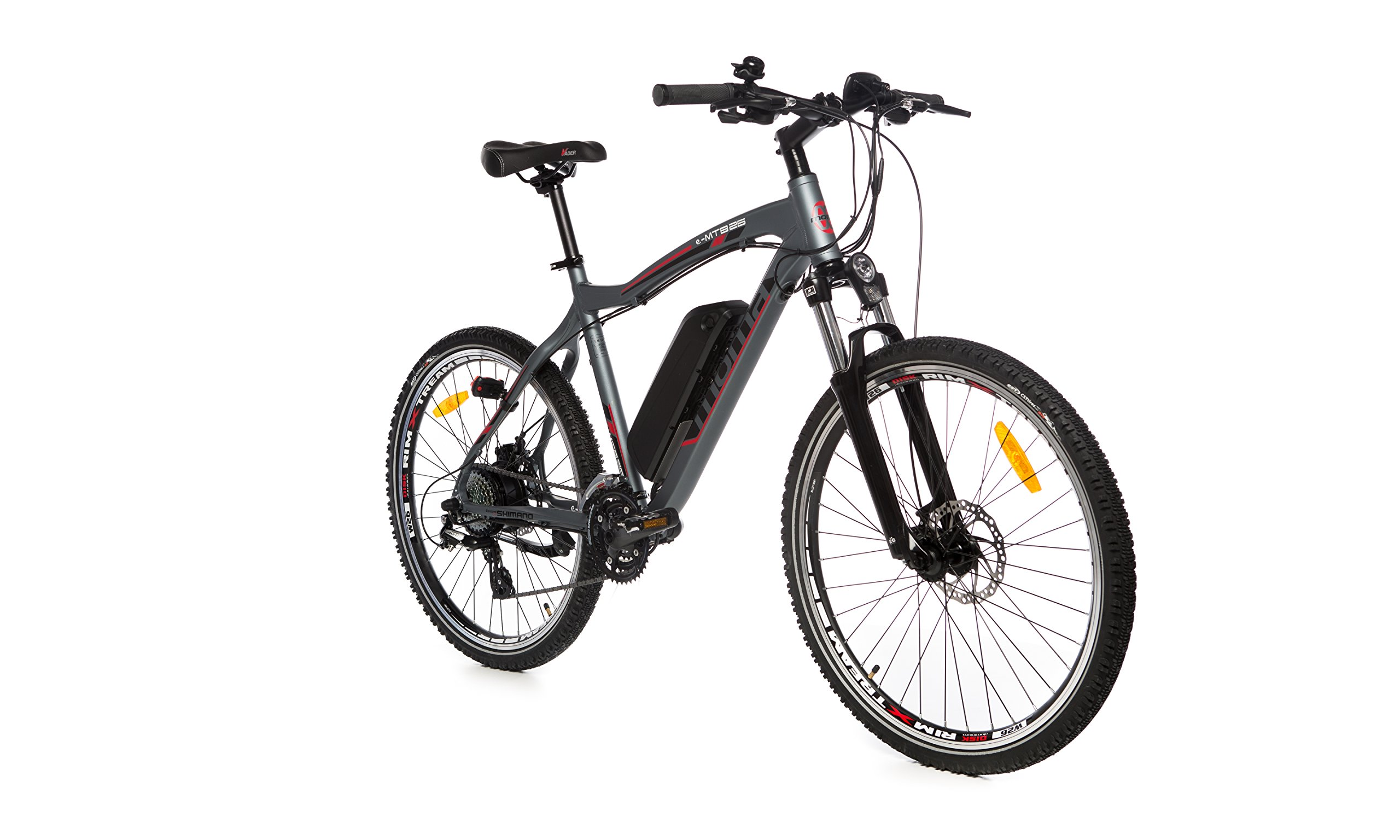 "Moma Bikes Vélo VTT Electrique VAE , E-MTB 26"", Aluminium, SHIMANO 24V, Freins a Disque, Suspension Avant, Bat. Ion Lithium 36V 16Ah product image"