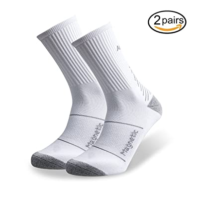 ADLU Cushioned Compression Athletic Crew Socks for Men&Women,Sports Socks for Basketball,Cycling,Running,Jogging,Hiking,Athletic Sports-2pairs