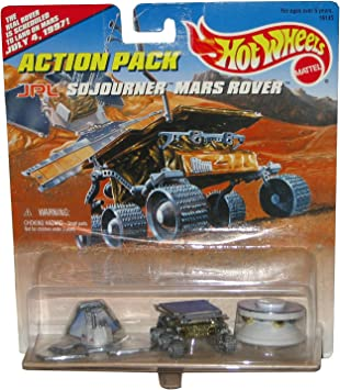 Hot Wheels JPL Sojourner Mars Rover Action Pack with The Real ...