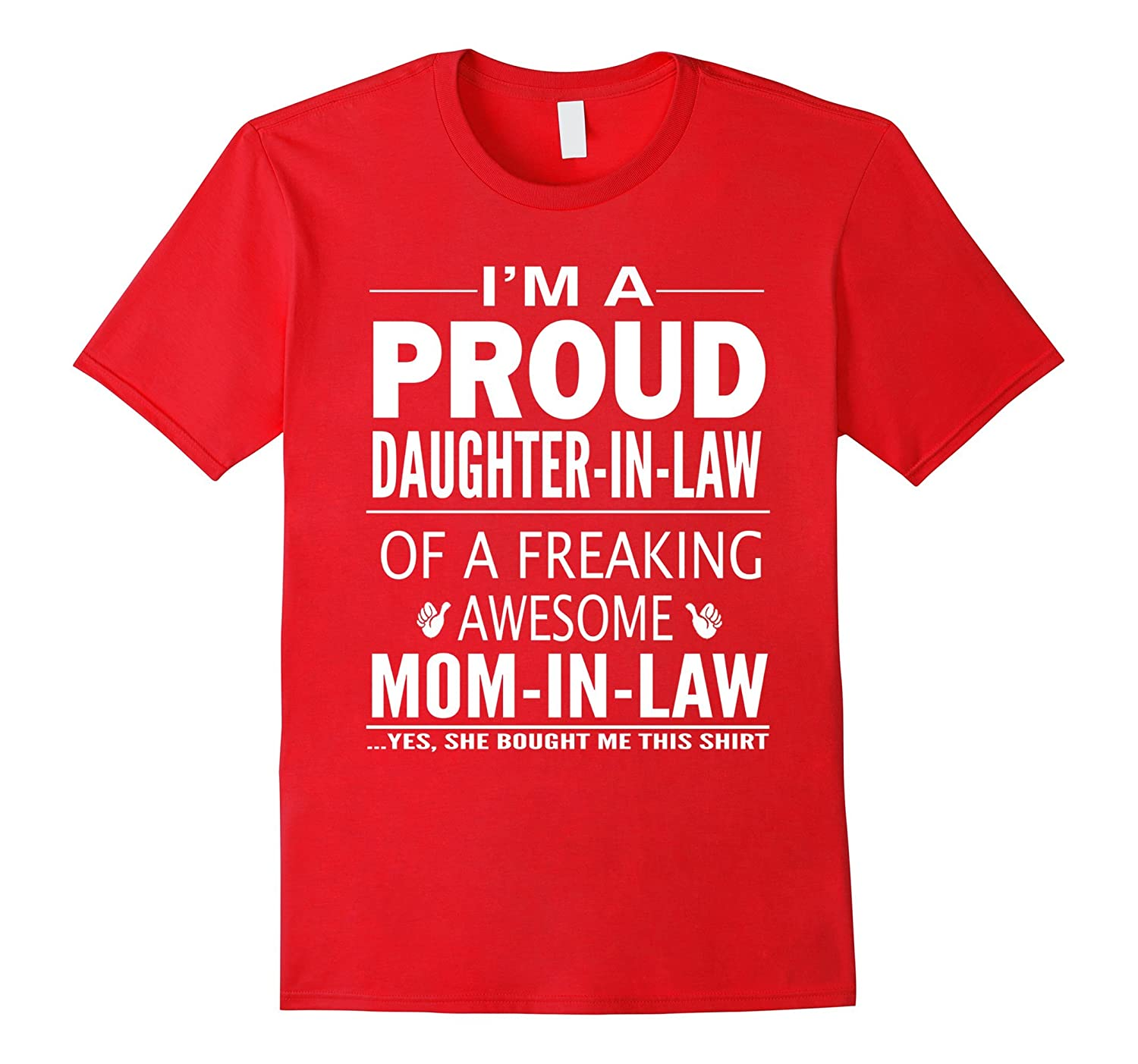 Proud Daughter In Law Of Awesome Mom In Law T-Shirt-Vaci