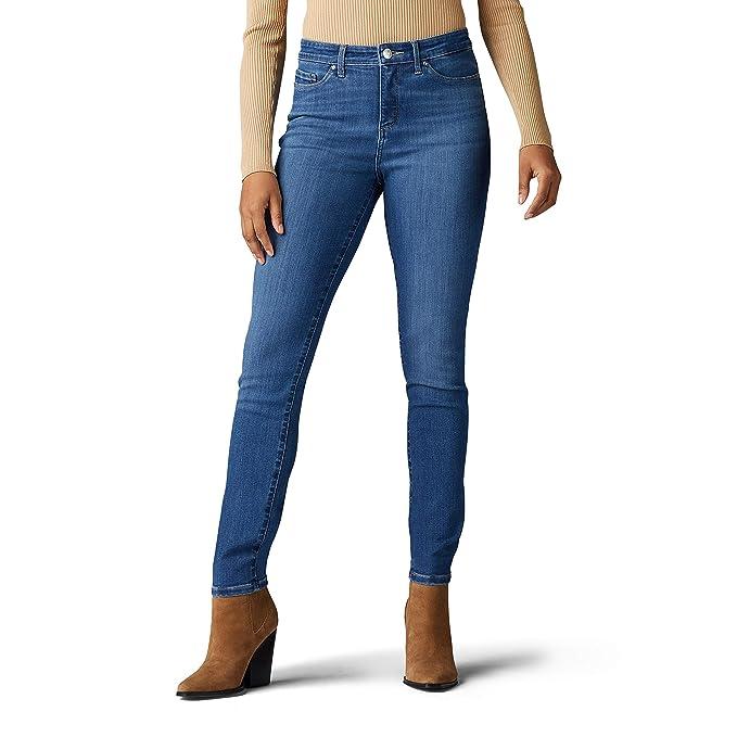 Amazon.com: Lee Petite Sculpting Slim Fit Skinny Leg Jean ...