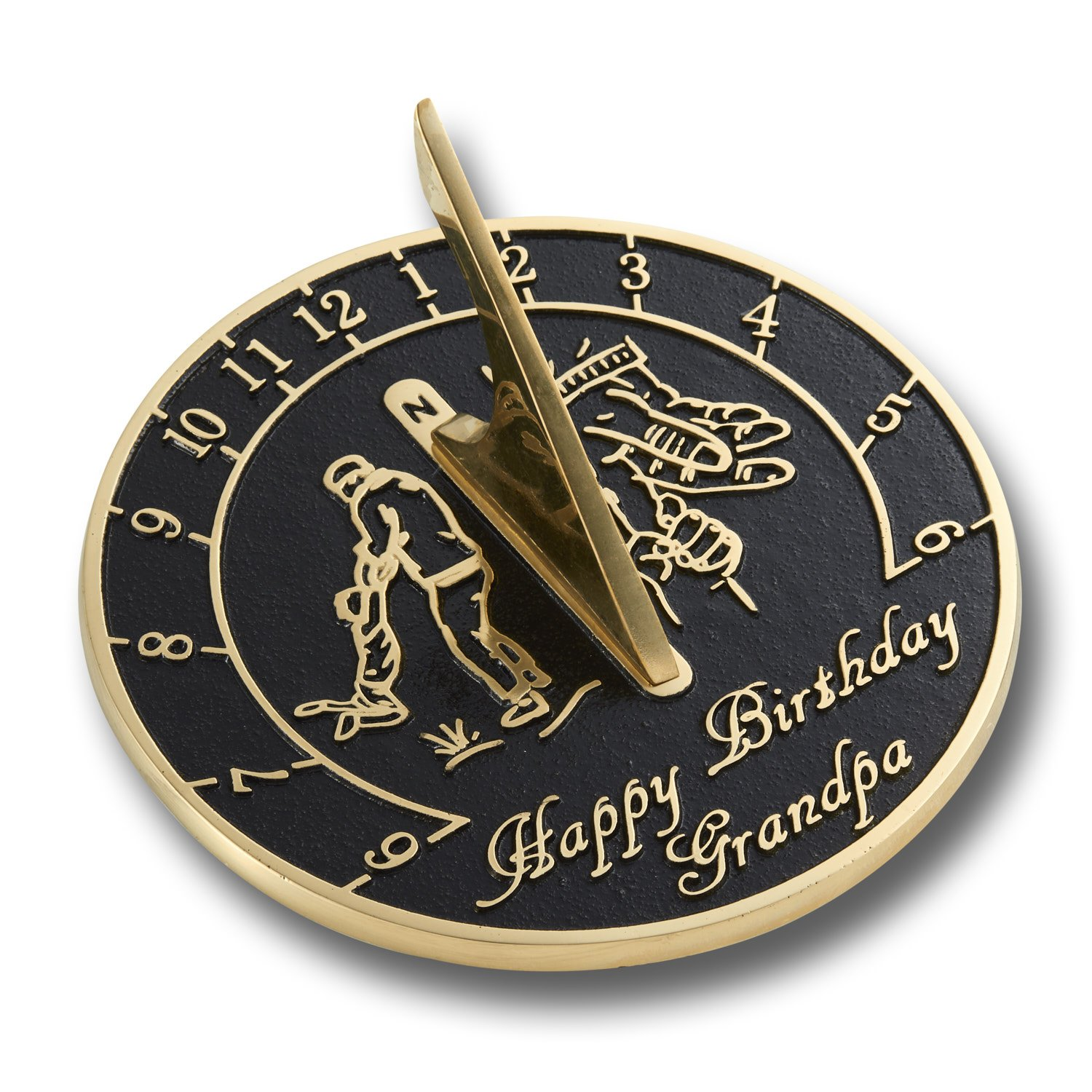 The Metal Foundry Happy Birthday Grandpa Sundial Gift. Looking For The Best Present Idea For A Special Grandpa For His Birthday? Great For His Garden Or Home.