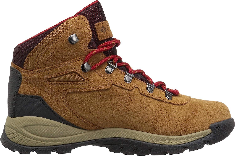 Columbia Women's Newton Ridge Plus Waterproof Amped Hiking Boot, Elk, Mountain Red elk, mountain red