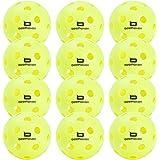 Beethoven Bird 12-Pack Indoor and Outdoor Pickleball Balls