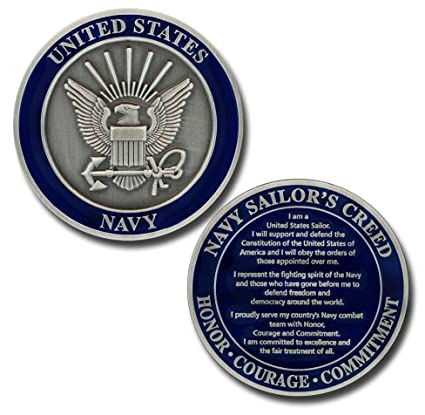 US Navy Sailor's Creed Challenge Coin