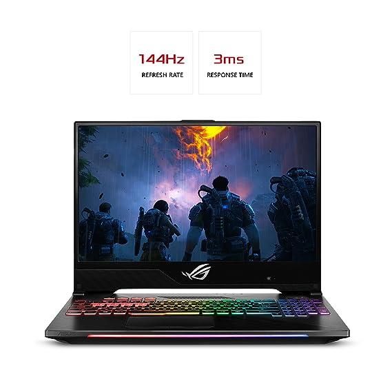 Asus Portátil ASUS ROG Strix Hero II Juego, GL504 15.6â € 144Hz-IPS Tipo de Pantalla Delgada, GeForce GTX 1060 6 GB, procesador Intel Core i7-8750H (hasta ...