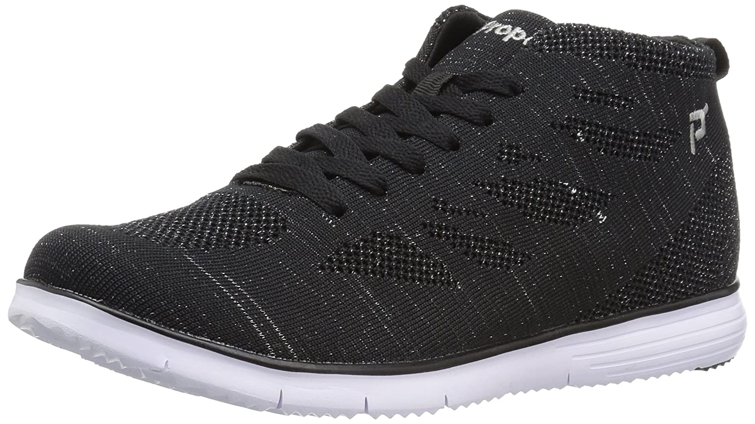 Propet Women's TravelFit Hi Walking Shoe B01N48GTBO 8 2E US|Black Metallic