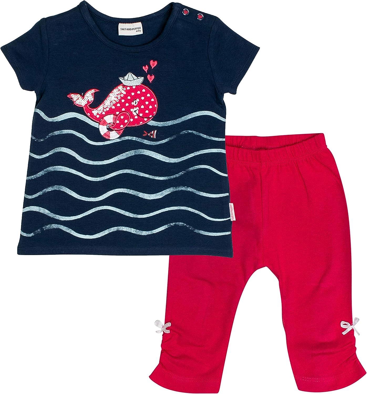 SALT AND PEPPER Baby-M/ädchen Set Meer Uni Wal Bekleidungsset