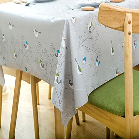 Table Waterproof Oil Proof Cover Tablecloth Rectangle Home Dining Decor 6L