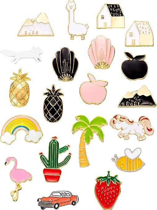 ananas toucan Ananas Lot de 5 broches /à /épingle en m/étal arc-en-ciel et past/èque motifs lunettes de soleil
