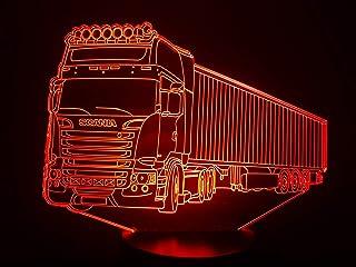 LKW SCANIA (3), 3D-Lampe LED