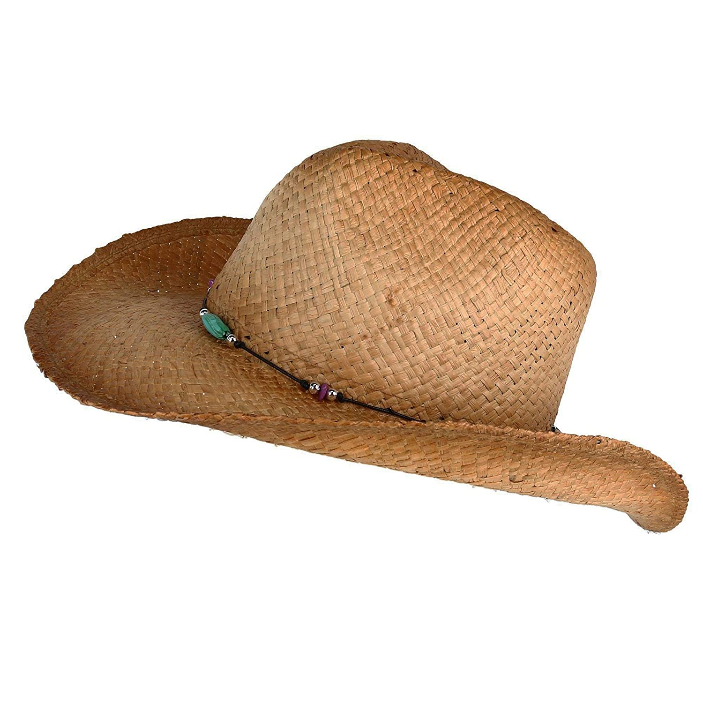 6e402cf8 Kenny K Women's Raffia Western Hat with Beaded Hatband at Amazon Women's  Clothing store: