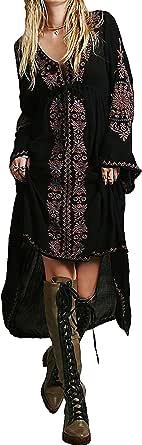 R.Vivimos Women's Cotton High Low Long Dresses