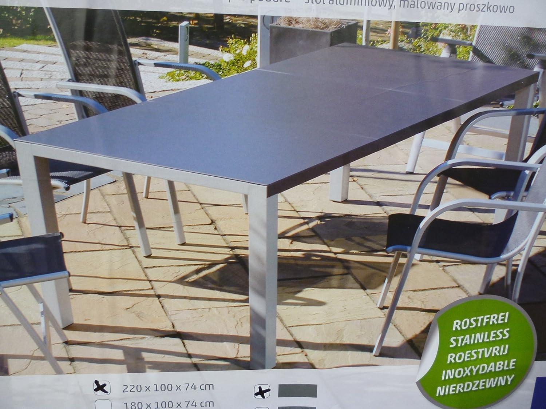 Sun Garden Tisch Brisbane Gartentisch Aluminium 220x100cm silber ...
