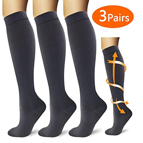 YIKUSO Compression Socks for Women /& Men Best Medical,for Running,Athletic,Circulation /& Recovery Colorful