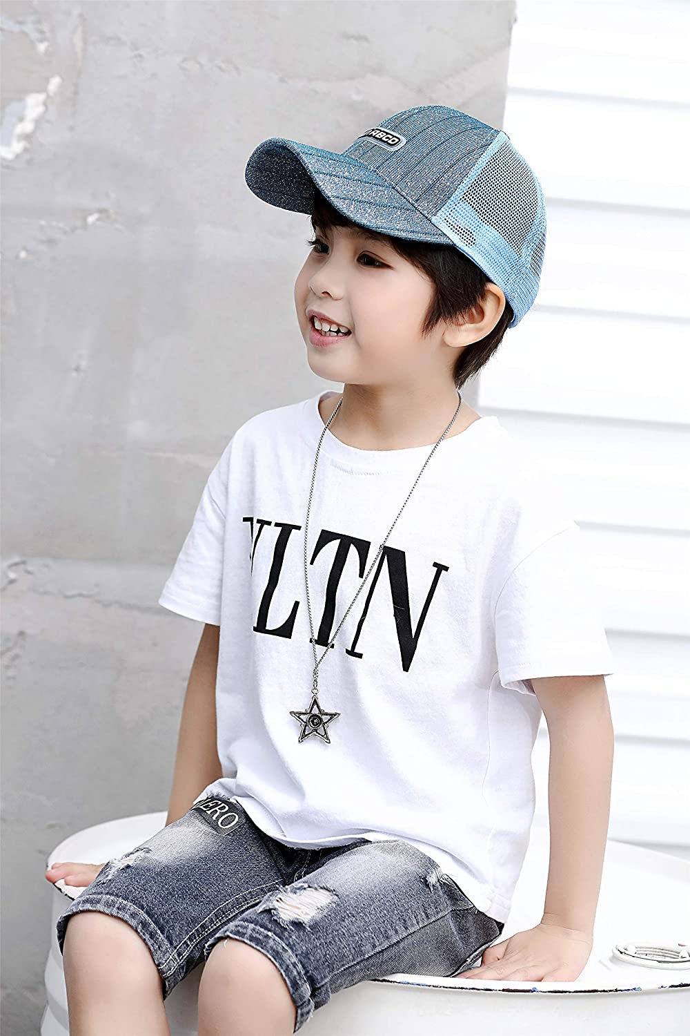 ACVIP Little Girls Shimmering Metallic Fancy Baseball Cap
