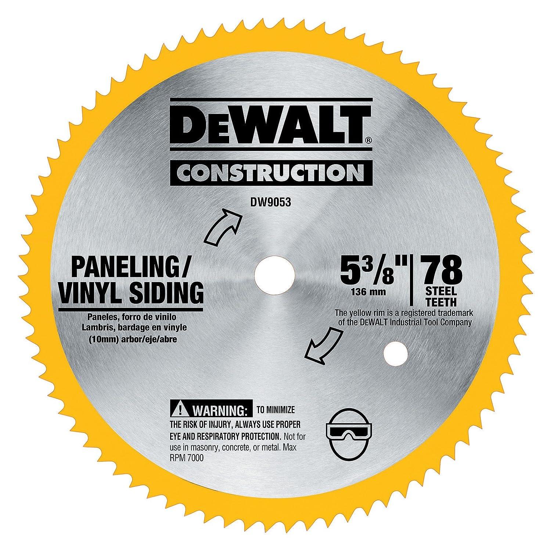 Dewalt Dw9053 5 3 8 Inch 80 Tooth Paneling And Vinyl Cutting Steel Speaker Diablo Vx 603 Dw Saw Blade With 10 Mm Arbor Circular Blades