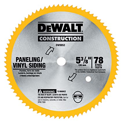 Dewalt dw9053 5 38 inch 80 tooth paneling and vinyl cutting steel dewalt dw9053 5 38 inch 80 tooth paneling and vinyl cutting steel greentooth Images