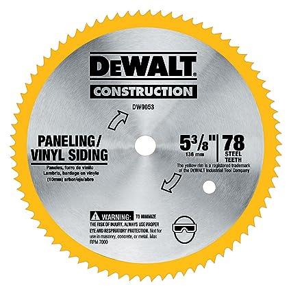 Dewalt dw9053 5 38 inch 80 tooth paneling and vinyl cutting steel dewalt dw9053 5 38 inch 80 tooth paneling and vinyl cutting steel keyboard keysfo Images