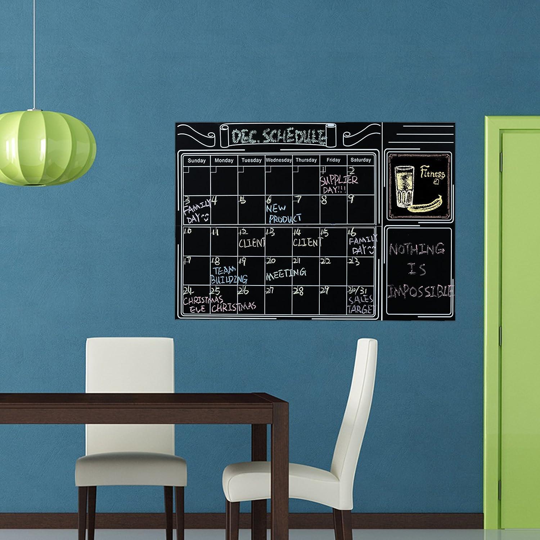 Amazon.com : Large 24 x 36 Wall Monthly Calendar Chalkboard ...