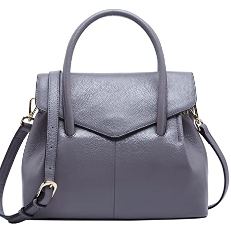e718aa4a6a66 BOYATU Genuine Leather Handbags for Women Business Satchel Ladies Purse Top  Handle Bag  Amazon.ca  Luggage   Bags