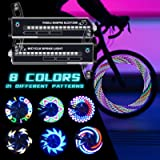 PRUNUS Rechargeable LED Bike Wheel Lights(2 Packs),Waterproof Bicycle Spoke Lights with 21 Variations, Included for Safe…
