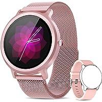 NAIXUES Smartwatch Dames IP68 Smart Watch met 24 sportmodi, hartslagmeter, slaapmonitor, slimme meldingen, 1,28 inch…