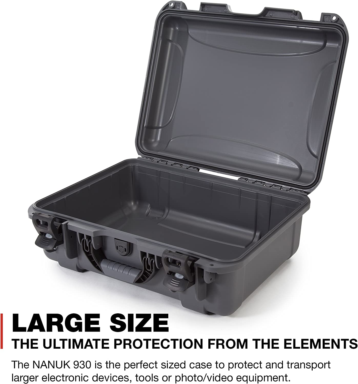 Nanuk 930 Waterproof Hard Case Empty Graphite