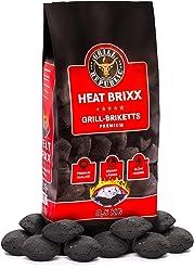 Grill Republic Premium Grill Holzkohle Briketts mit Heisser Glut und Langer Brenndauer | Schnelles und Sicheres Anzünden | 100% Qualitätsgarantie (8,5 kg)