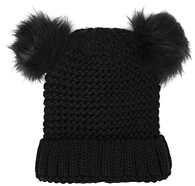 Womens All Over Heat Bobble Beanie, Black, One Size (Manufacturer Size: 99) New Look