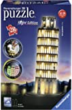 Ravensburger Italy - Torre di Pisa Puzzle, 3D Building, Night Edition, 12515