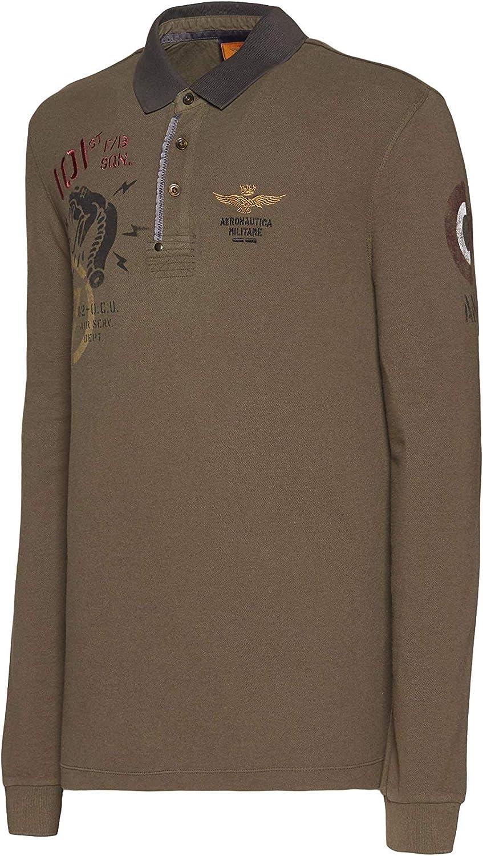 Aeronáutica Militar Polo PO1375 verde militar, piquet, hombre, mezcla lana, camiseta: Amazon.es: Ropa y accesorios