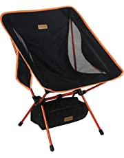 Trekology YIZI GO Portable Camping Chair - Compact Ultralight Folding Backpacking Chairs, Small Collapsible Foldable Packable Lightweight Backpack Chair in a Bag for Outdoor, Camp, Picnic, Hiking