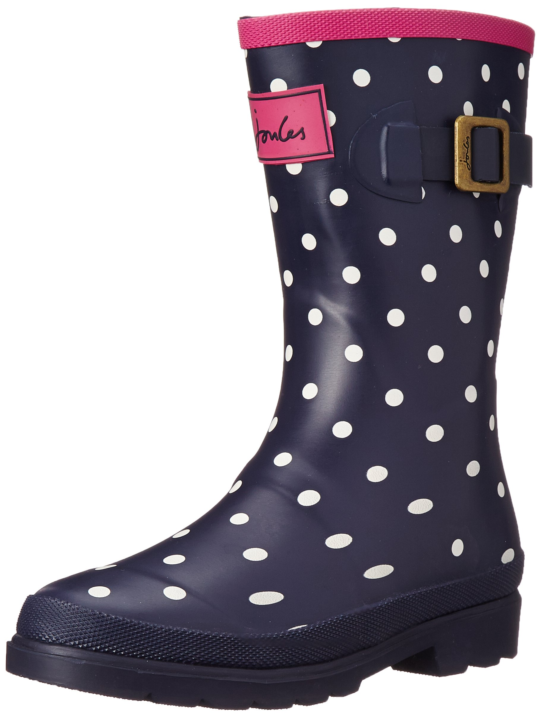 Joules T_JNR Girls Welly Boot (Toddler/Little Kid/Big Kid), Navy Spot White, 12 M US Little Kid