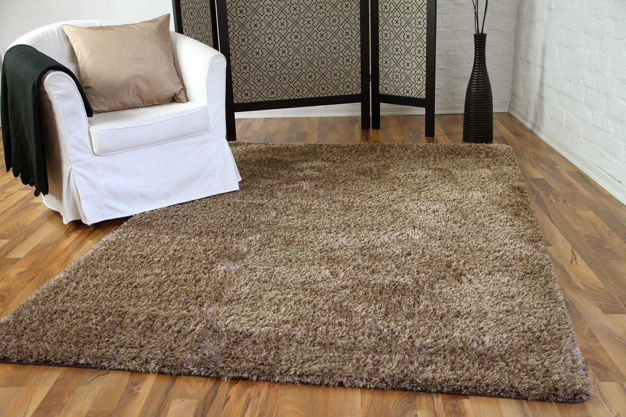 Hochflor Langflor Shaggy Teppich Elegance Beige in 24 Größen B01LZ8M7UF Teppiche
