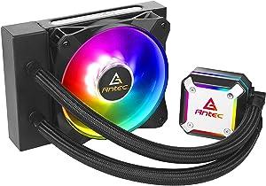Ultra-Thin CPU Block, Advanced Water Pump Design, PWM Fan, CPU Liquid Cooler