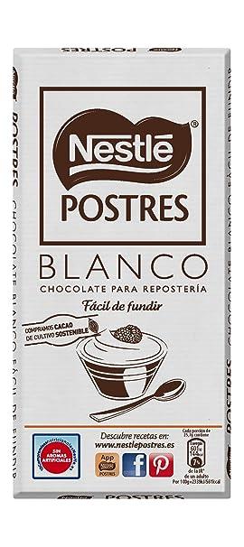 Nestlé POSTRES Chocolate Blanco para fundir - Tableta de chocolate para repostería 12x180g: Amazon.es: Alimentación y bebidas