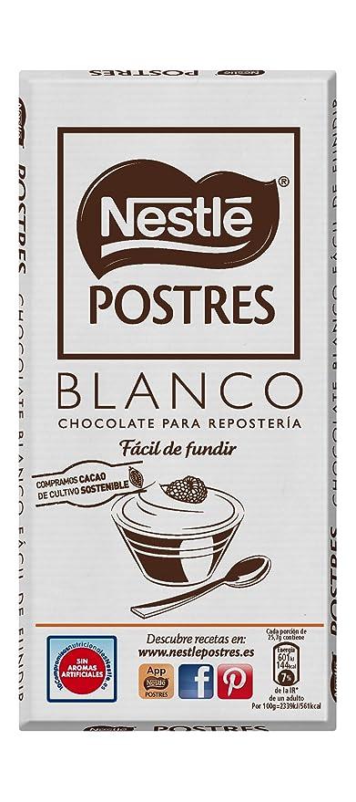 Nestlé Postres - Chocolate Blanco para Repostería - 4 Paquetes de 180 g: Amazon.es: Alimentación y bebidas