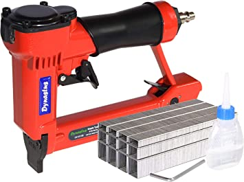 Amazon Com Pneumatic Upholstery Staple Gun 21 Gauge 1 2 Wide Crown Air Stapler Kit By 1 4 Inch To 5 8 Inch 1 4 Inch To 5 8 Inch With 3000 Staples Office Products