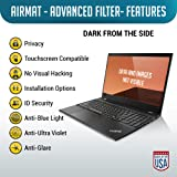 Laptop Privacy Screen Filter for 14 Inch Widescreen Display Laptops (16:9 Aspect Ratio) - Gold Premium Anti Glare Protector Film for Data confidentiality