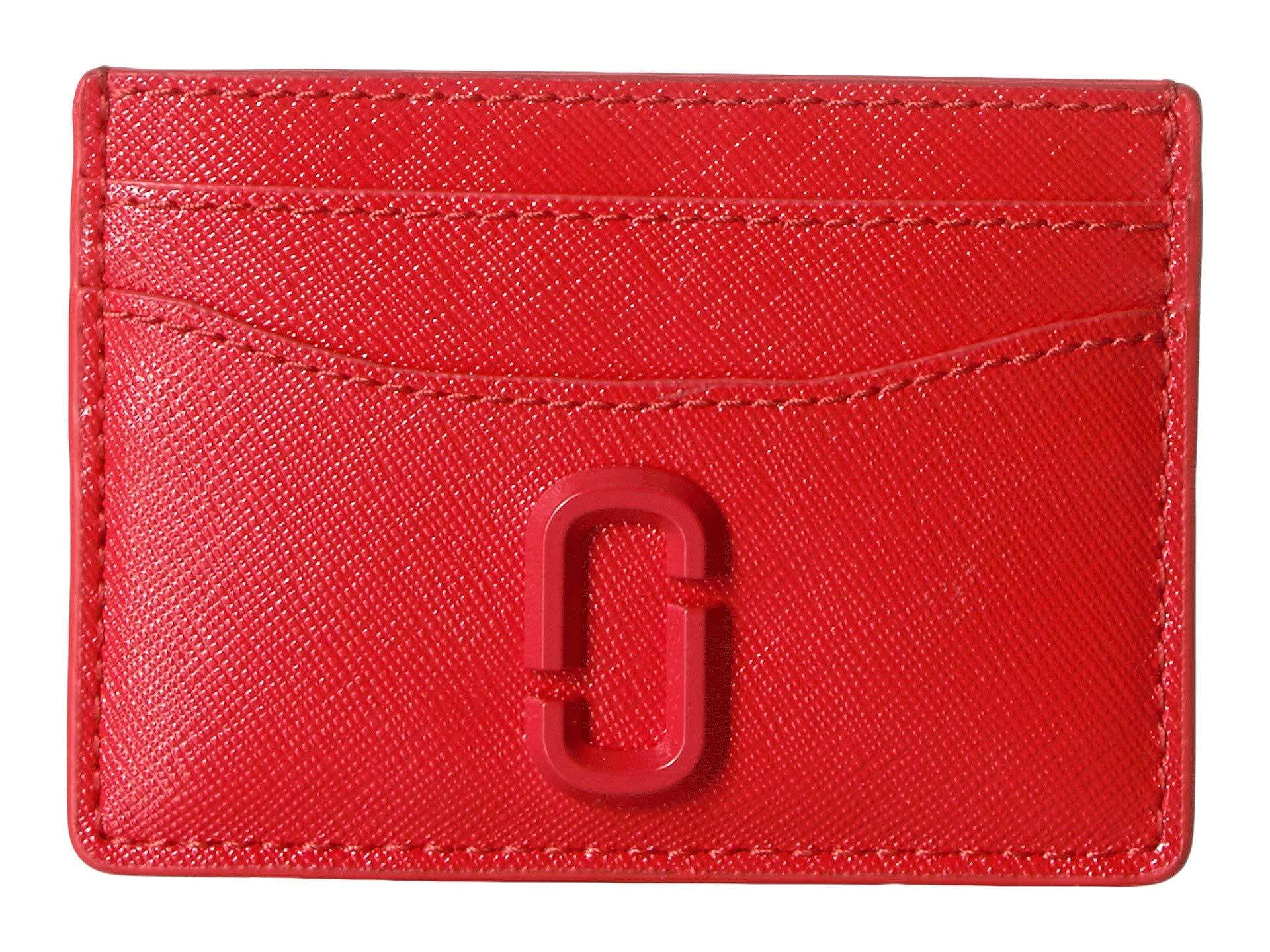 Marc Jacobs Women's Snapshot Card Case, Geranium, Red, Pink, One Size