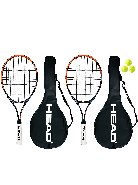2 x Head Ti.Radical 27 Tennis Rackets & 3 Tennis Balls