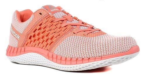 47fa225e5b7 Reebok Womens Zprint Run Ultraknit Pink Running Shoes Size 8.5 ...