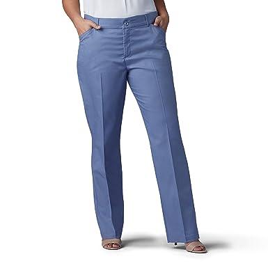 22138f53787b4d LEE Women's Plus Size Flex Motion Regular Fit Straight Leg Pant, Waterscape  Tweed, 22W