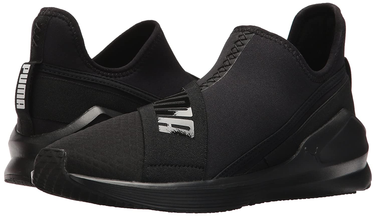 PUMA Women's Fierce Slip-on Wn Sneaker B072MZL8J7 10 B(M) US|Puma Black-puma Black